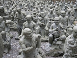 雲辺寺の等身大五百羅漢