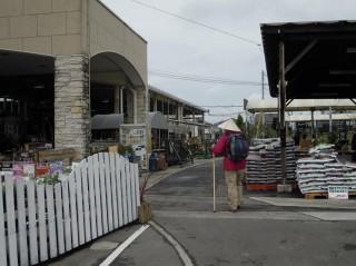 園芸用品店の間を行く…これも遍路道