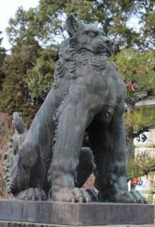 北村西望作の狛犬