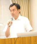 講演する和田准教授