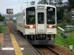 JR名松線の列車…伊勢八太駅で