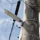 市内に設置されているLED型防犯灯