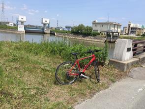 志登茂川のほとりで一休み