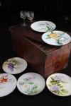 「色絵文絵替皿」と出張料理に使われた木箱