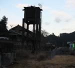 伊勢奥津駅に、今も残る蒸気機関車用の給水塔