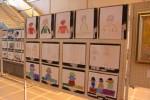 利用者が児童の肖像を描いた作品