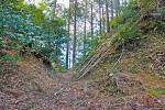 波瀬城の堀切