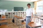 玉村典久校長(一志学園高校の教室で)