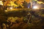 水面に鮮やかに映し出された紅葉(昨年のライトアップで)