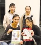 目玉事業の公演や参加者募集をPRする長野代表(後列右)らプロジェクトメンバー