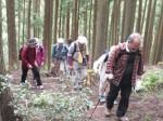 霧山城跡の下見をする津観光ガイドネットのメンバー