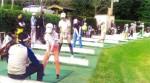 青山高原カントリークラブでの練習の様子