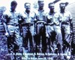 昭和20年6月26日、白山上空で撃墜されたB29の搭乗員の写真