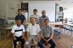 中森会長(前列中央)ら、「みさっと」や 3地域の協議会に参加している住民と市職員