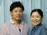船上結婚式を挙げる堤潤也さん・三佳子さん夫妻