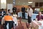 表彰式で挨拶する原田大会委員長