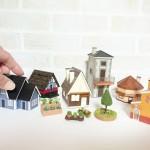 奥西さんの作品のミニチュアハウスとミニチュアガーデン