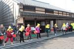 谷川士清旧宅での防火訓練の様子
