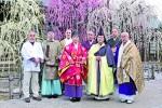 昨年の観梅祈願祭を執り行った7寺社の代表者ら