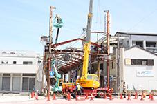今月7日から行われているアーケード解体工事
