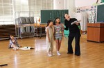昨年の里山そうぞう学校に参加した児童による、ミニ音楽劇の練習風景
