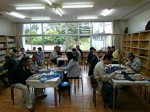 大勢の客で賑わう「たつの和カフェ『さくら』」