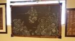 無数の穴で七福神を表現した伊勢型紙