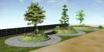 永代供養の樹木葬霊園「結びの丘」のパース