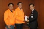 左から前川さん、青山会長、前葉市長