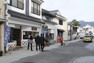 「蔵」を生かし美しく整備された中町商店街