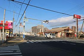 今回のスタート地点(四條畷市の国道163号東中野交差点)