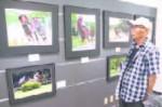 いなべ草競馬の迫力満点の写真と、八木田さん