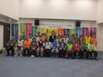 前葉市長(中央列の左から6人目)と懇談した津観光ガイドネットのメンバー