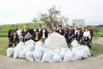 中勢グリーンパークを清掃した津LCのメンバー