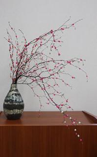 地域伝統の「もち花飾り」