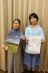 芸術祭をPRする森松さん(左)、横山さん