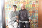 白山地域密着型ケアセンターで田中さん(左)と利用者