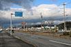 伊勢自動車道西側の国道165号沿いの風景