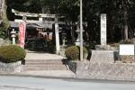 七栗神社の門前