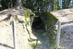 入田古墳の入り口