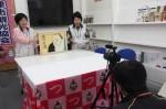 「谷川士清の会」による紙芝居の動画撮影の様子(今月14日)