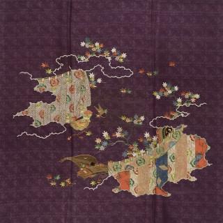 葉に鳥兜模様 袱紗 江戸時代後期 名古屋市博物館蔵(松坂屋コレクション)